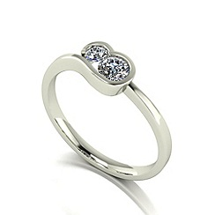 Love Story - 9ct white gold 0.33ct total diamond ring