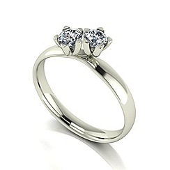 Love Story - 9ct white gold 0.50ct total diamond ring