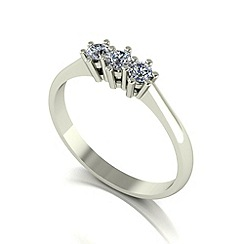 Love Story - 9ct white gold 0.25ct diamond trilogy ring