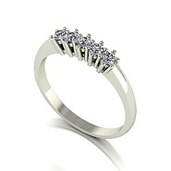 Love Story - 9ct white gold 0.25ct diamond 5 stone ring