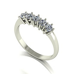 Love Story - 9ct white gold 0.50ct diamond 5 stone ring