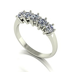 Love Story - 9ct white gold 1.00ct diamond 5 stone ring