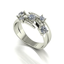 Love Story - 9ct white gold 0.60ct diamond 5 stone ring