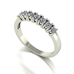 Love Story - 9ct white gold 0.50ct diamond 7 stone ring