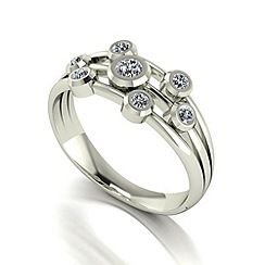 Love Story - 9ct white gold 0.45ct diamond 7 stone ring