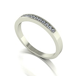 Love Story - 9ct white gold 0.15ct diamond band ring