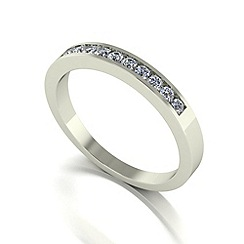 Love Story - 9ct white gold 0.25ct diamond band ring