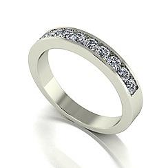 Love Story - 9ct white gold 0.50ct diamond band ring