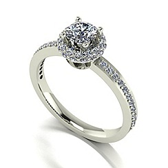 Love Story - 9ct white gold 1.00ct total diamond ring