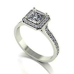 Love Story - 9ct white gold 0.80ct total diamond ring