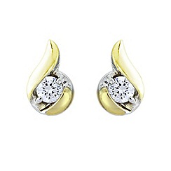 Love Story - Silver and 9ct gold plate stone set earrings