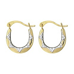 Love Story - 9ct gold creole earring