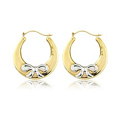 Love Story - Silver & yellow rhodium plated creole earrings