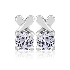 Precious Moments - Sterling silver spinel 'kiss' earrings
