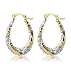 Love Story - 9ct gold and white rhodium earrings