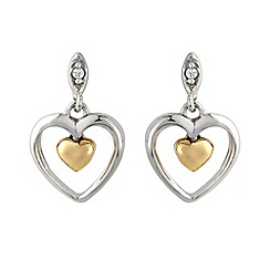 Love Story - Silver, rose 9ct gold earrings