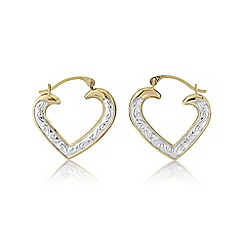 Love Story - 9ct gold creoles
