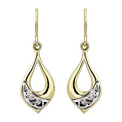 Love Story - 9ct gold ladies earrings