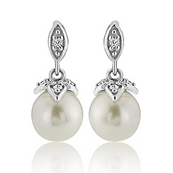 Love Story - Sterling Silver Stone-Set Pearl Earrings