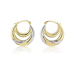 Love Story - 9ct gold creole earrings
