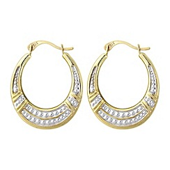 Love Story - 9ct gold ladies creole earrings
