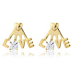 Precious Moments - Sterling silver & gold plate 'Love' earrings