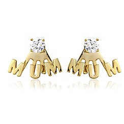 Precious Moments - Silver, 9ct gold plate 'mum' earrings