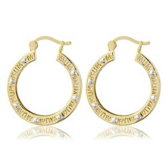 Precious Moments - Yellow bronze 'mum' earrings