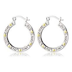 Precious Moments - White bronze, 'mum' earrings