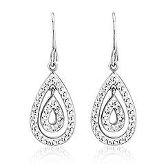 Love Story - Sterling silver crystal set earrings