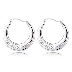 Precious Moments - Silver 'always and forever' earrings