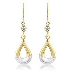 Love Story - 9ct gold and diamond, earrings