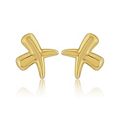 Love Story - 9ct Gold 'Kiss' Earrings