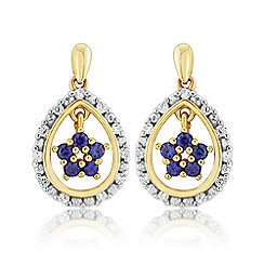 Love Story - 9ct Gold Plated on Silver Stone-Set Earrings