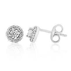 Love Story - Sterling Silver Stone-Set Stud Earrings