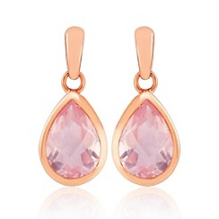 Precious Moments - Rose gold plated quartz ladies earrings