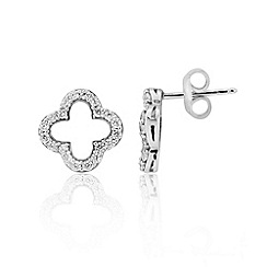 Precious Moments - Sterling silver stone-set stud earrings
