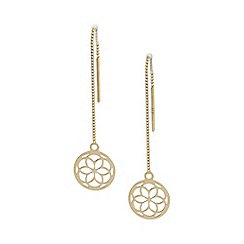Precious Moments - 9ct Gold Ladies Lotus Threader Earrings