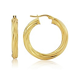 Love Story - 9ct Yellow Gold Ladies Earrings