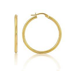 Love Story - 9ct Yellow Gold 'Hoop' Earrings