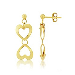 Love Story - 9ct Yellow Gold Ladies Dropper Earrings