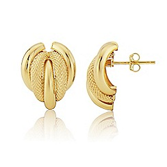Love Story - 9ct Yellow Gold Ladies Designer Stud Earrings