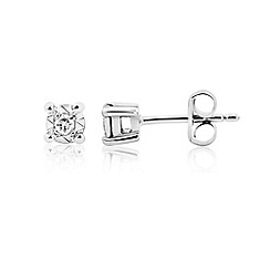 Starlight - 9ct white gold 0.08ct stud earrings