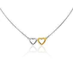 Precious Moments - Sterling silver heart 'Together Forever' Necklace
