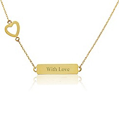 Precious Moments - 9ct Gold 'With Love' Necklet