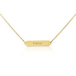 Precious Moments - 9ct yellow gold 'Forever' bar necklet