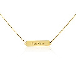 Precious Moments - 9ct yellow gold 'Best mum' bar necklet