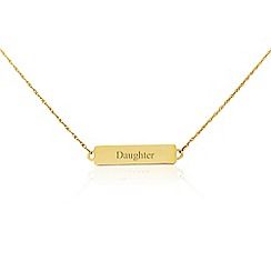 Precious Moments - 9ct yellow gold 'Daughter' bar necklet