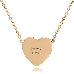 Precious Moments - 9ct rose gold plated on to sterling silver 'forever loved' ladies pendant