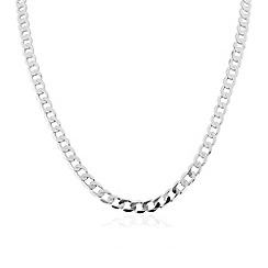 Love Story - Sterling silver gents curb necklace chain